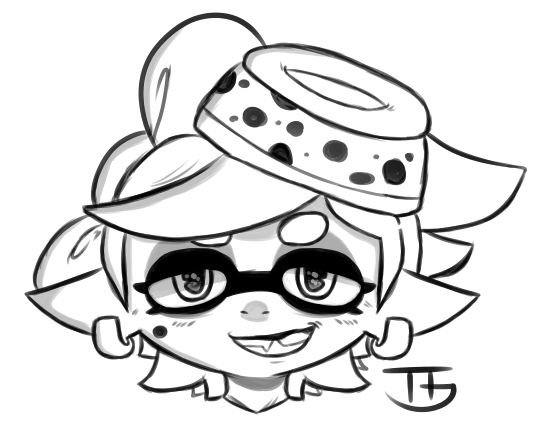 Drawn squid splatoon Try Page Squid Coloring Pinterest