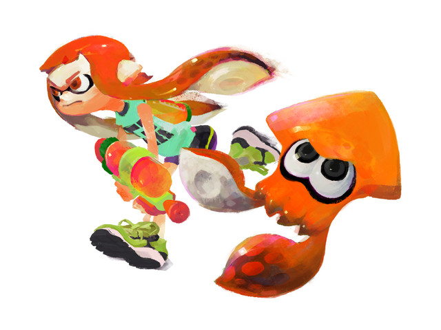 Drawn squid splatoon Of on Draws coming Girl