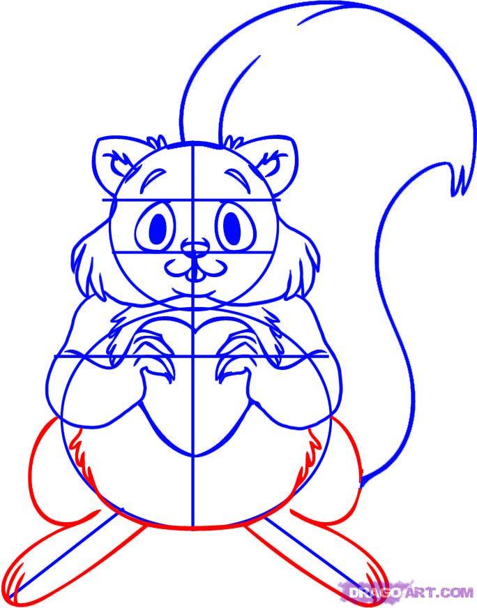 Drawn squirrel dragoart To Step Squirrel a Step
