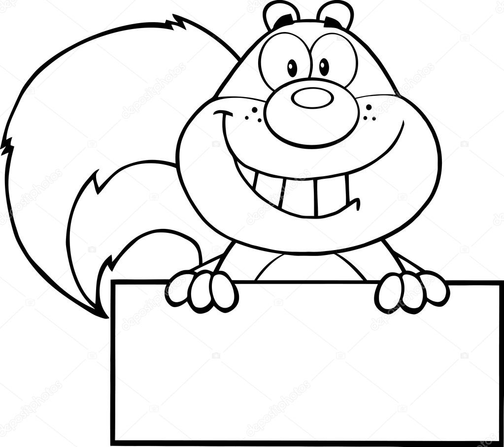Drawn squirrel mammal Over on Illustration Cartoon white—