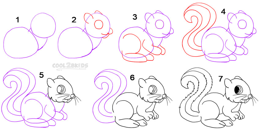 Drawn squirrel angry Draw To Squirrel How a