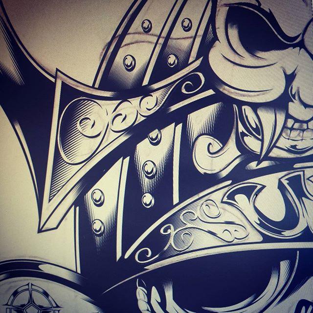Drawn ssckull adobe illustrator Vector #drawing on #vector skull