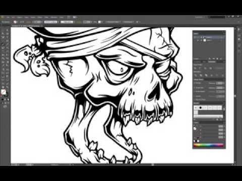 Drawn ssckull adobe illustrator Draw Adobe Skull Illustrator a