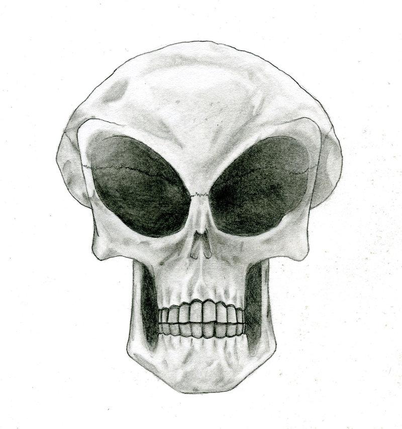 Drawn skull alien Asmodeaus96669 by DeviantArt Skull by