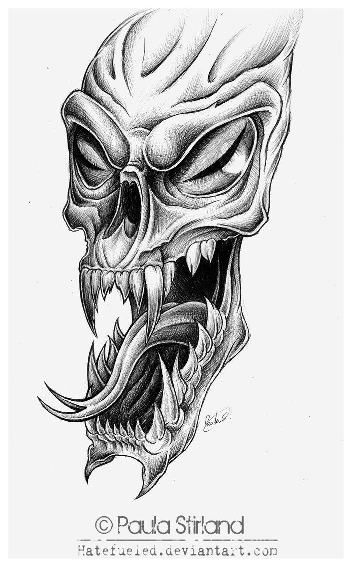 Drawn skull alien Photo Skull Real Alien Drawing