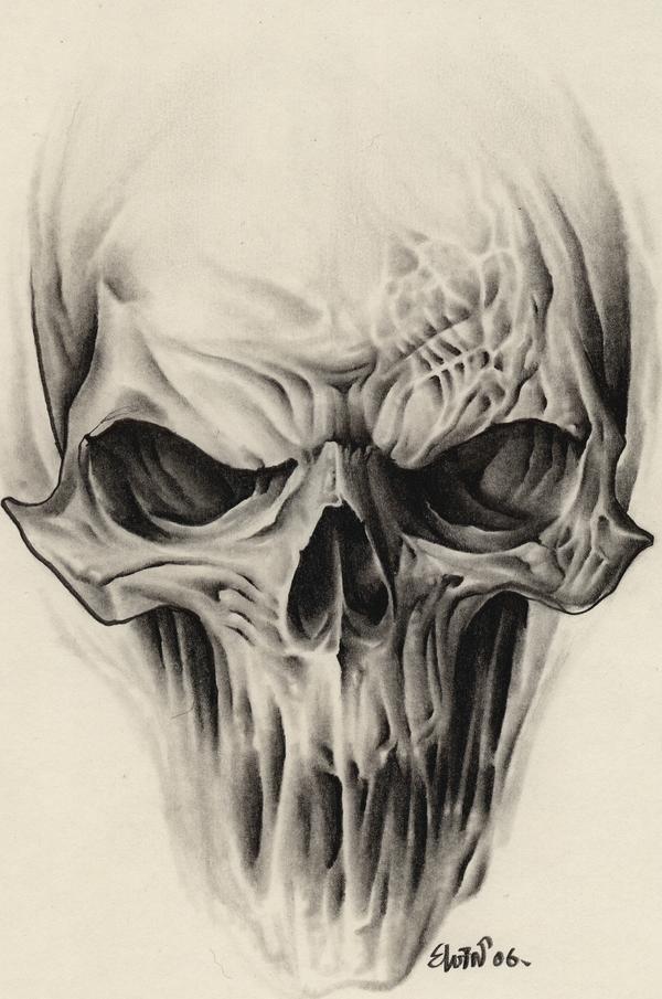 Drawn skull alien Design More Tattoo Pinteres… Alien