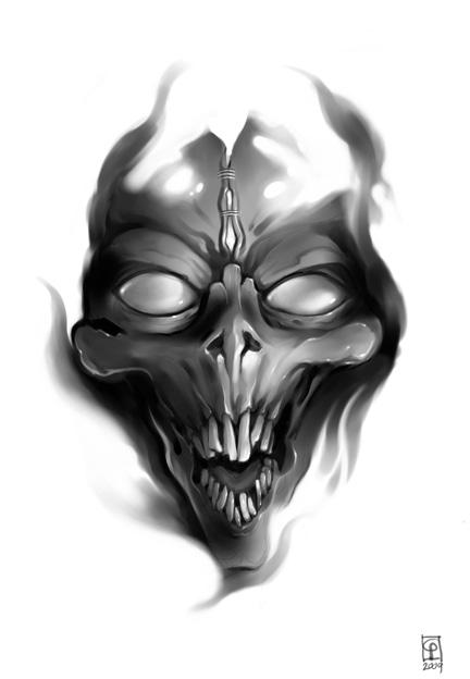 Drawn skull alien Alien VictorGatmaitan by VictorGatmaitan Skull