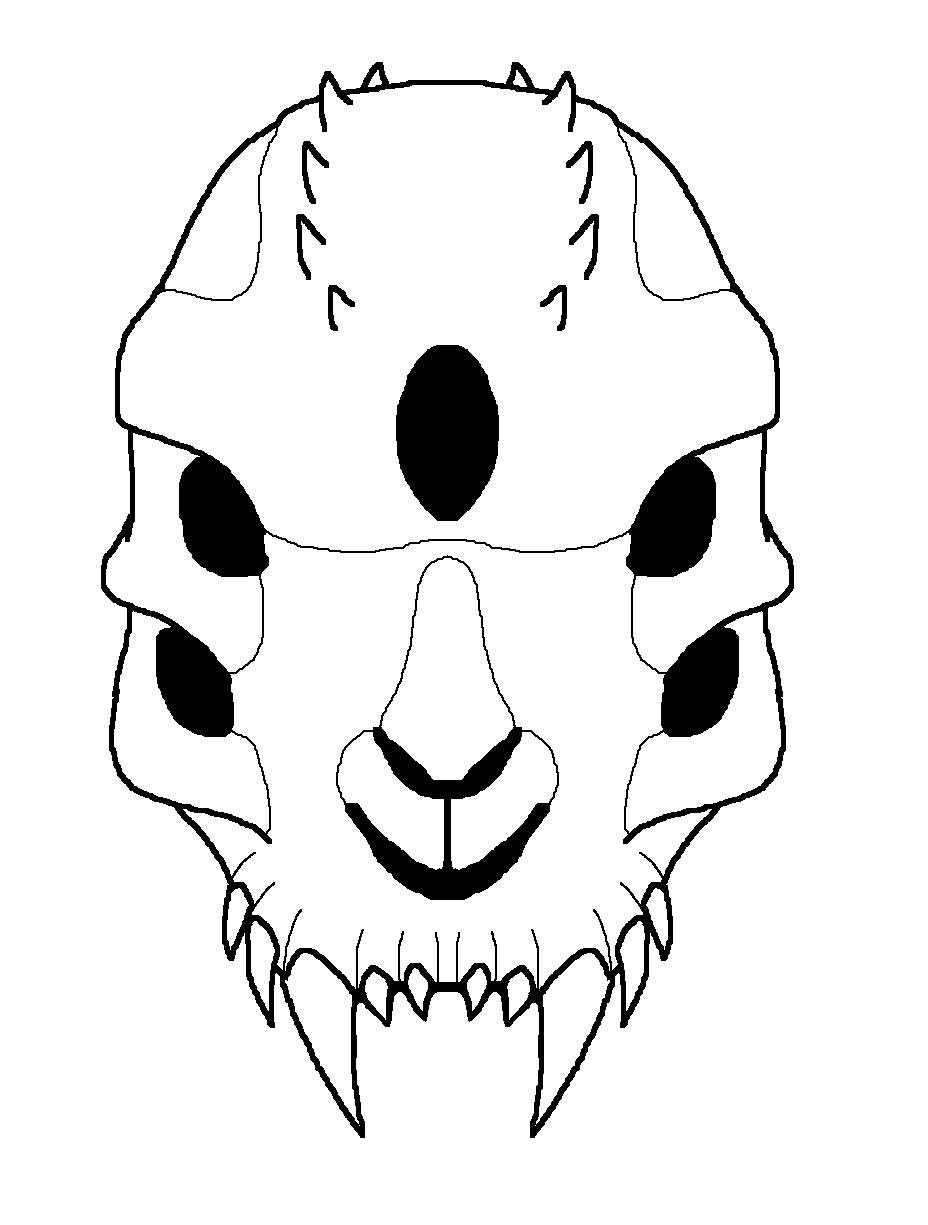 Drawn skull alien Alien Alien FeralStormRaptor by Alien