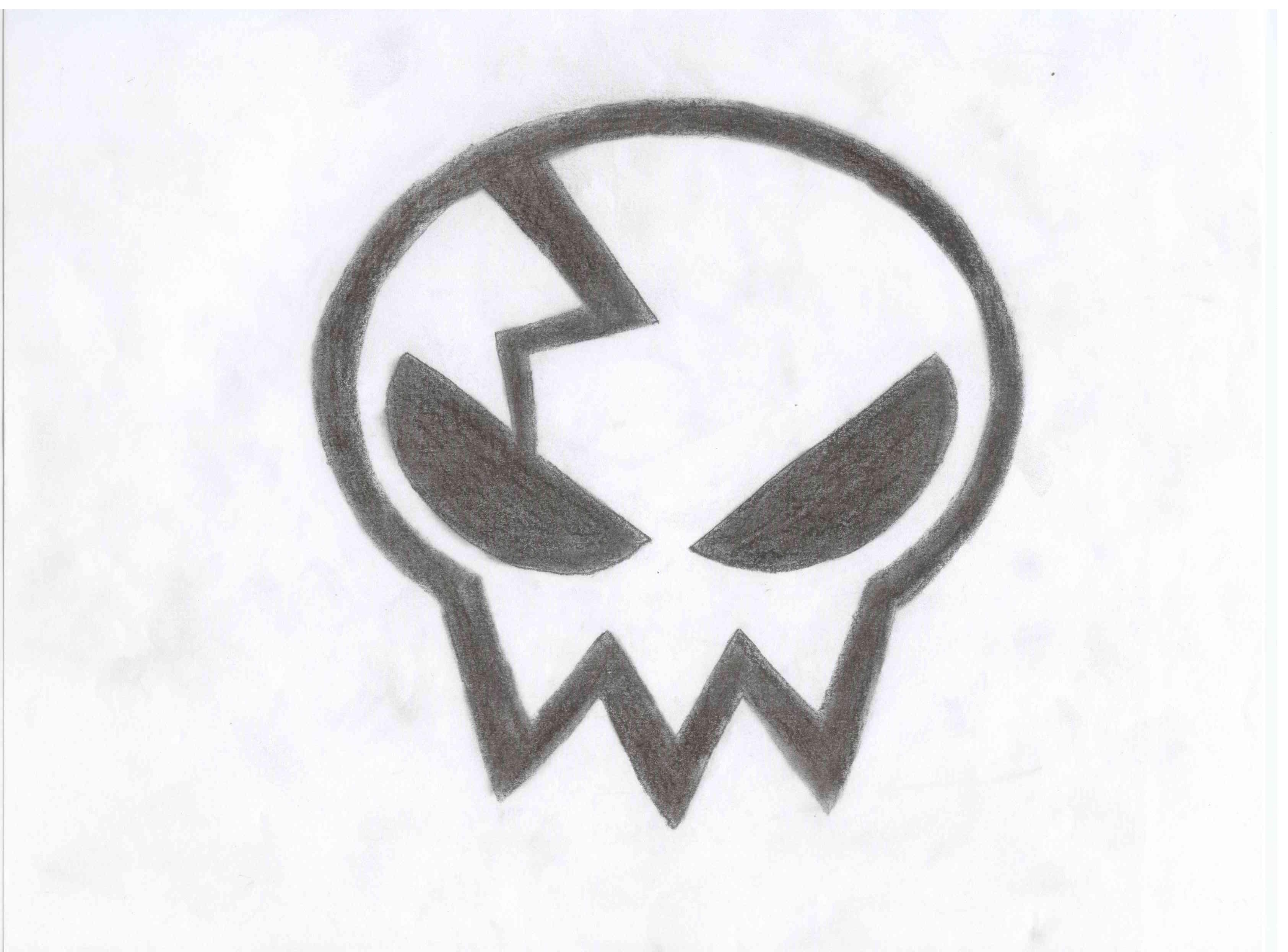 Drawn skull anime Skull Yoko by by Yoko