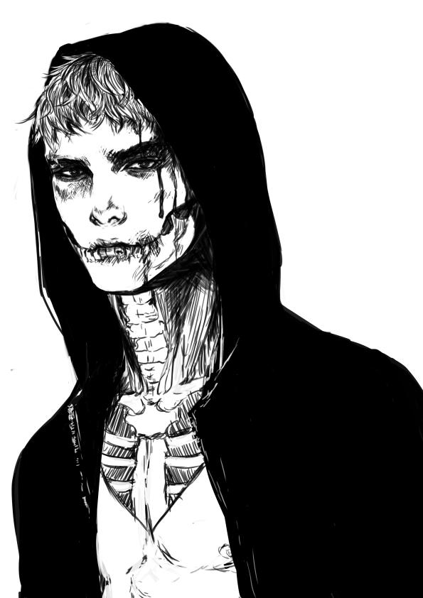 Drawn skull anime Skull on jounetsunoakai by DeviantArt