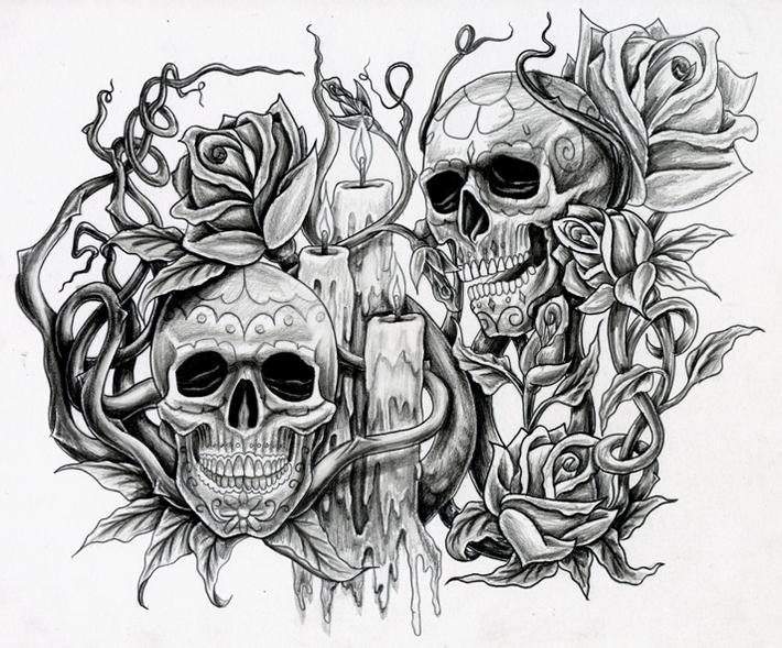 Drawn skull candle Skull by suevianna331 suevianna331 Skull