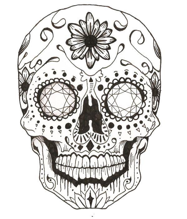 Drawn ssckull On Skull Sugar Best 25+