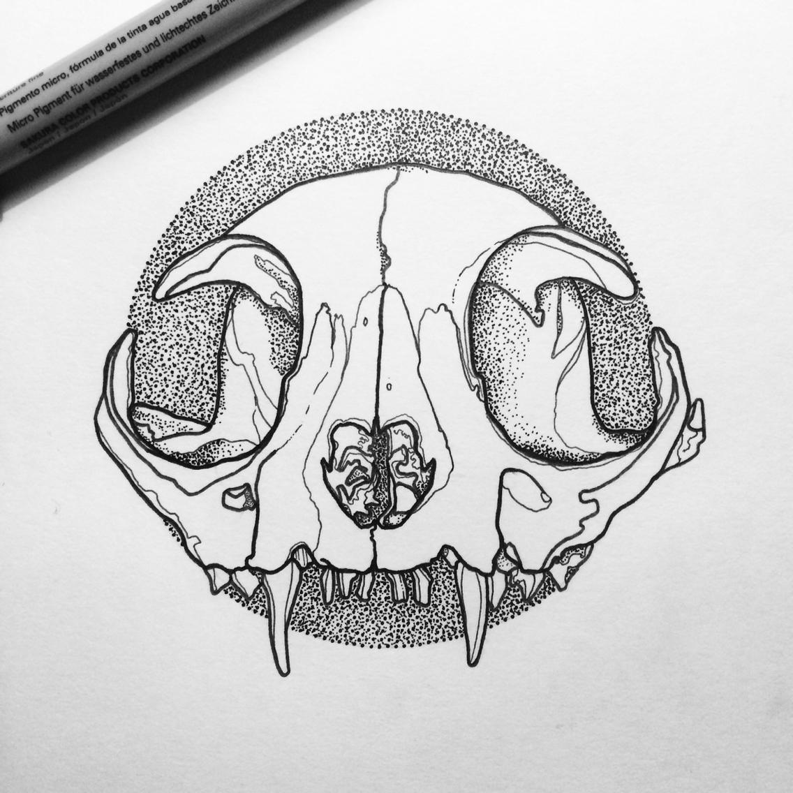 Drawn skull designer Skull #linework #line #line #linework