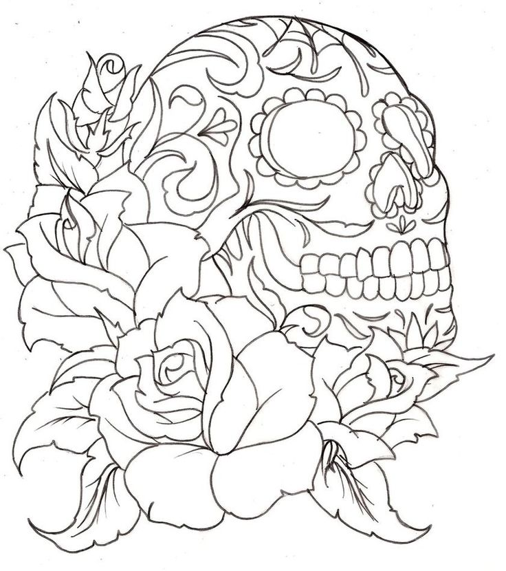 Drawn skull coloring page Pages Skull Coloring Pages Printable