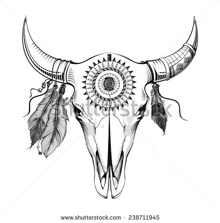 Drawn skull cow Stock Southwest Pictures Pictures Shutterstock