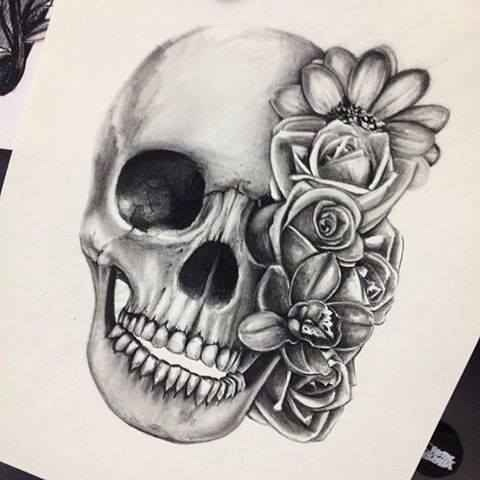 Drawn ssckull creative Heart drawing image skull It