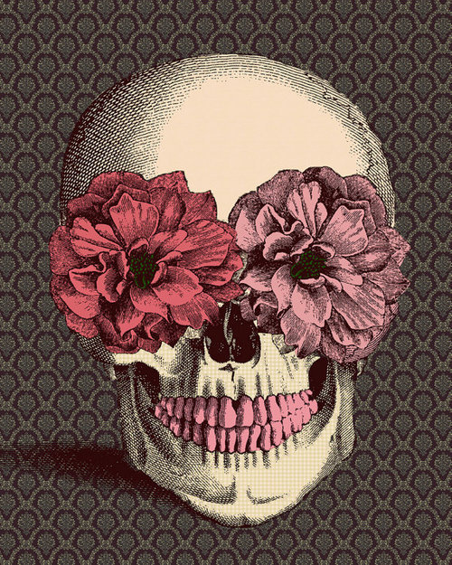 Drawn ssckull creative Beltrán drawing image flowers skull