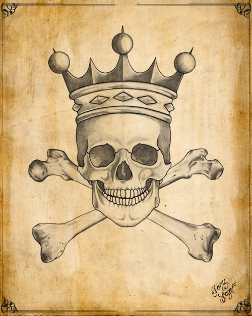Drawn skull crown drawing Skull Crown Tattoo with Pinterest