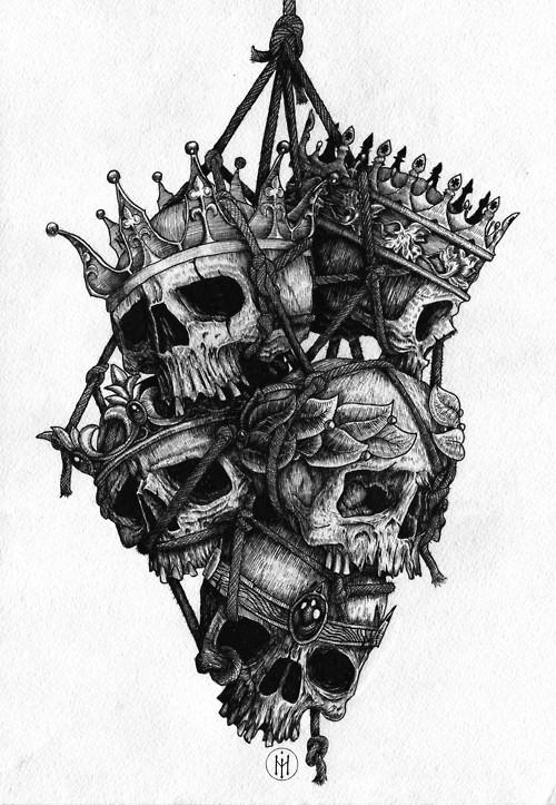 Drawn skull crown drawing Drawings amazing & amazing Illustrations