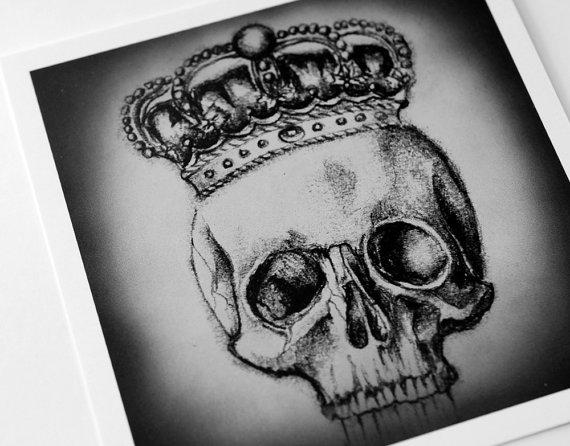 Drawn skull crown drawing White drawing com art jpg