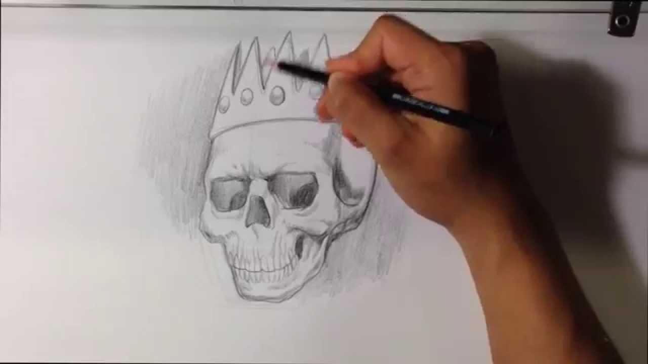 Drawn skull crown drawing Skull Drawings a Skull Tattoo