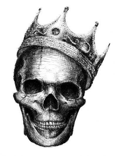 Drawn skull crown drawing Por Tofani 3 org drawing
