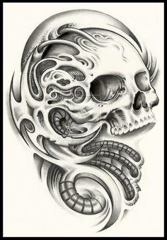 Drawn skull wicked  deviantART #skull drawing happy!