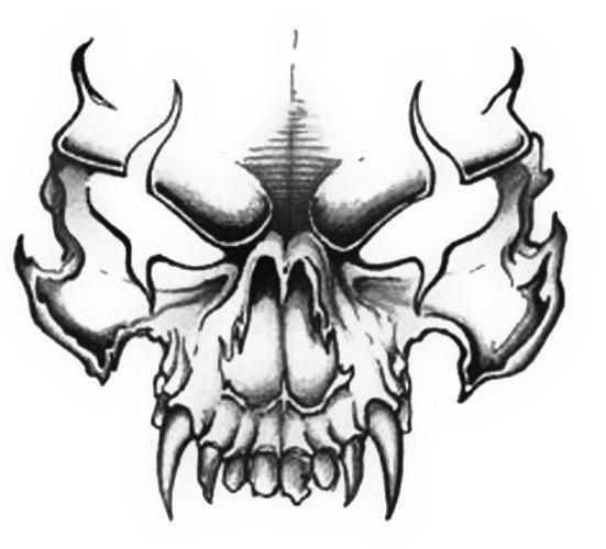 Drawn skull designer On 16 tattoo Pinterest Evil