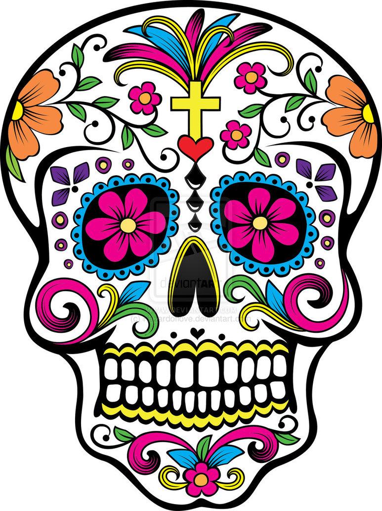 Drawn sugar skull dia de los muertos De Drawing/Painting Workshop Dia Muertos
