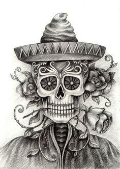 Drawn skeleton dia de los muertos Día muertos Pinterest de los