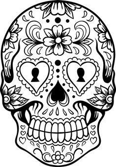 Drawn sugar skull dia de los muertos Best Los Skull Other Art