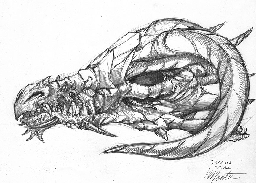 Drawn devil dragon #1