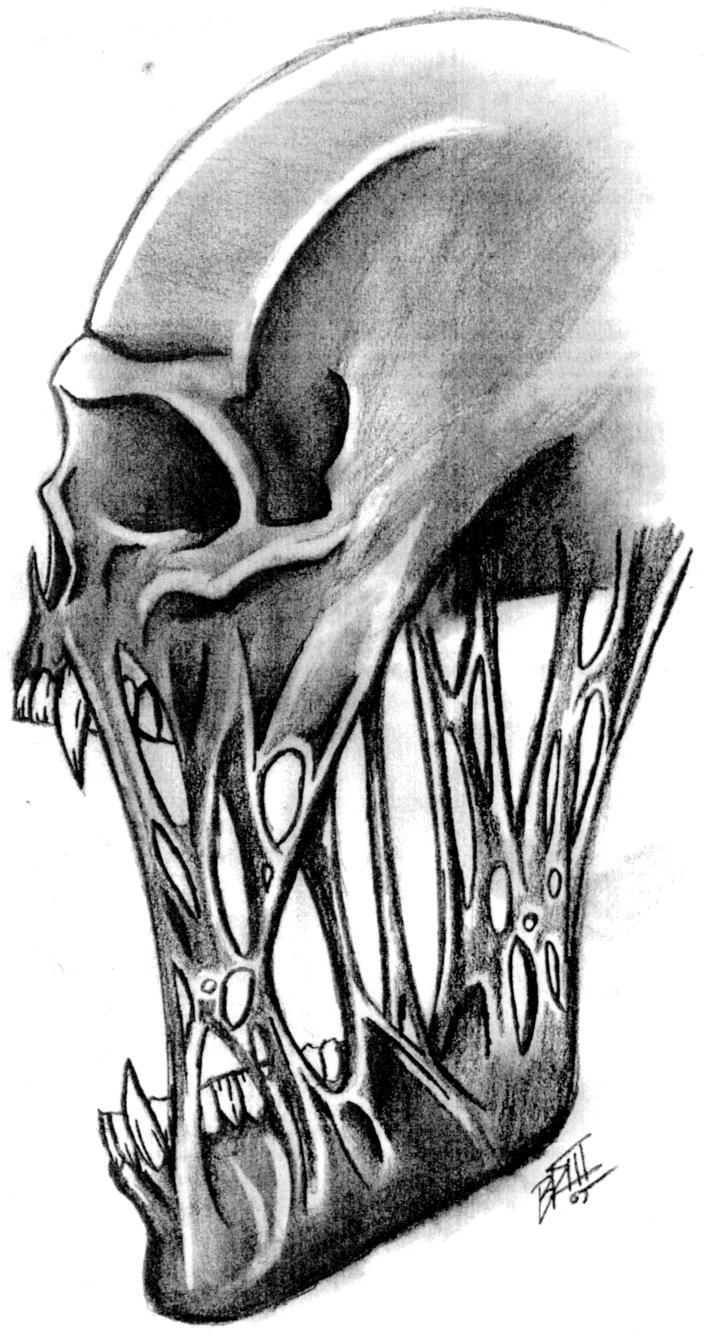 Drawn skull alien Drawing on Clipart Skull Download