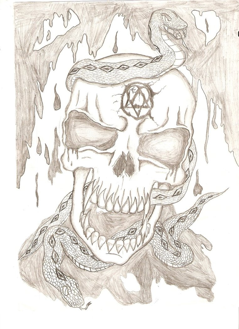 Drawn skull epic By An by epic Sk8rdude68