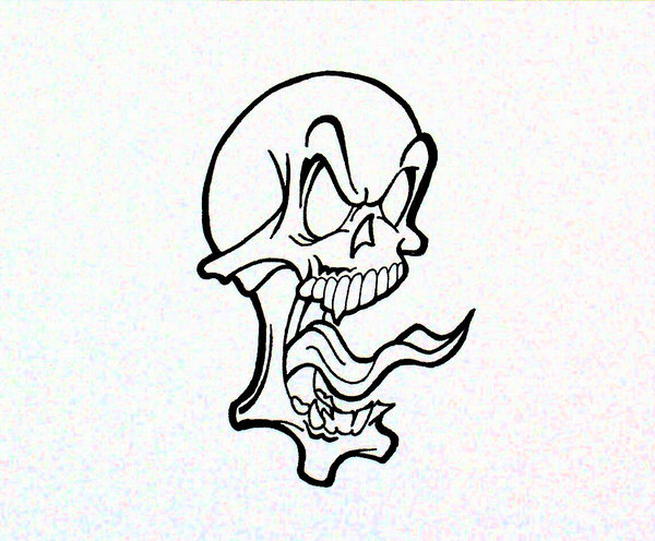 Drawn skull epic TheJokesOnYou Skull on by DeviantArt
