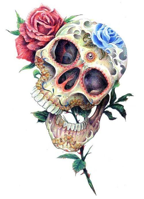 Drawn ssckull flower Best on images Skulls Pinterest