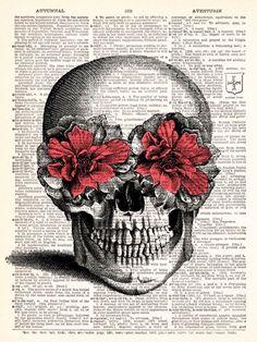 Drawn ssckull flower Eyes flower with Skull Creepy
