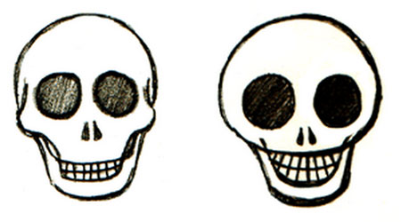 Drawn skull fun Drawing Tutorials How Teach Step