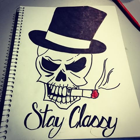 Drawn skull fun #tophat Instagram classy photos Kevin