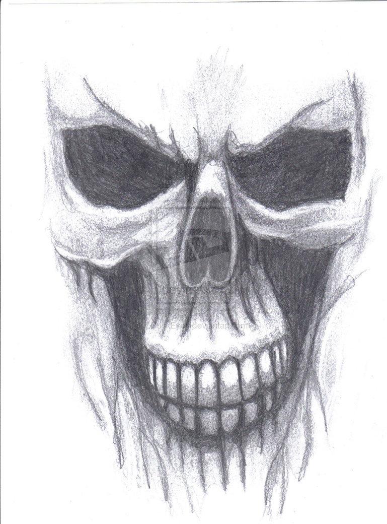Drawn skull ghost On skull skull deviantART by