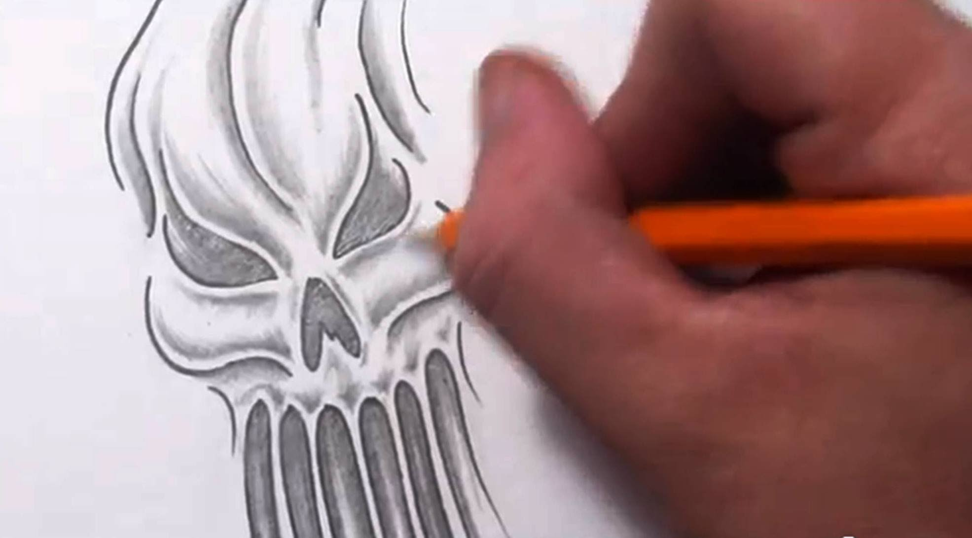 Drawn skull ghost Skull or Unsubscribe an Draw