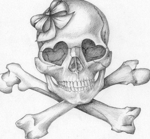 Drawn ssckull girly skull :) skull skull Best Girly