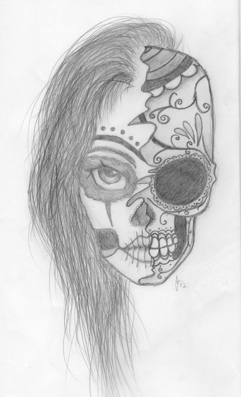 Drawn sugar skull girly Download Free skull Sugar Drawing
