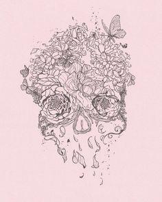 Drawn ssckull girly skull Sleeve Misc skull that's girly