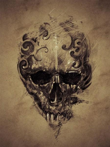 Drawn skull gothic skull Skull Draw Draw Gothic Gothic