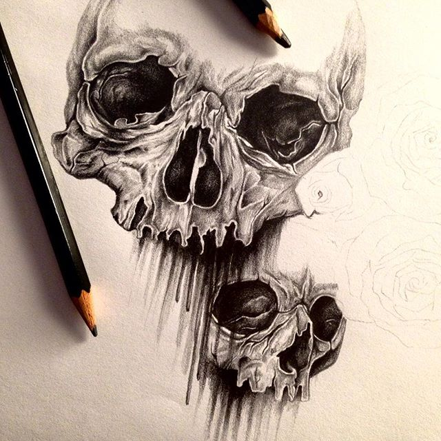 Drawn skull gothic skull Class=