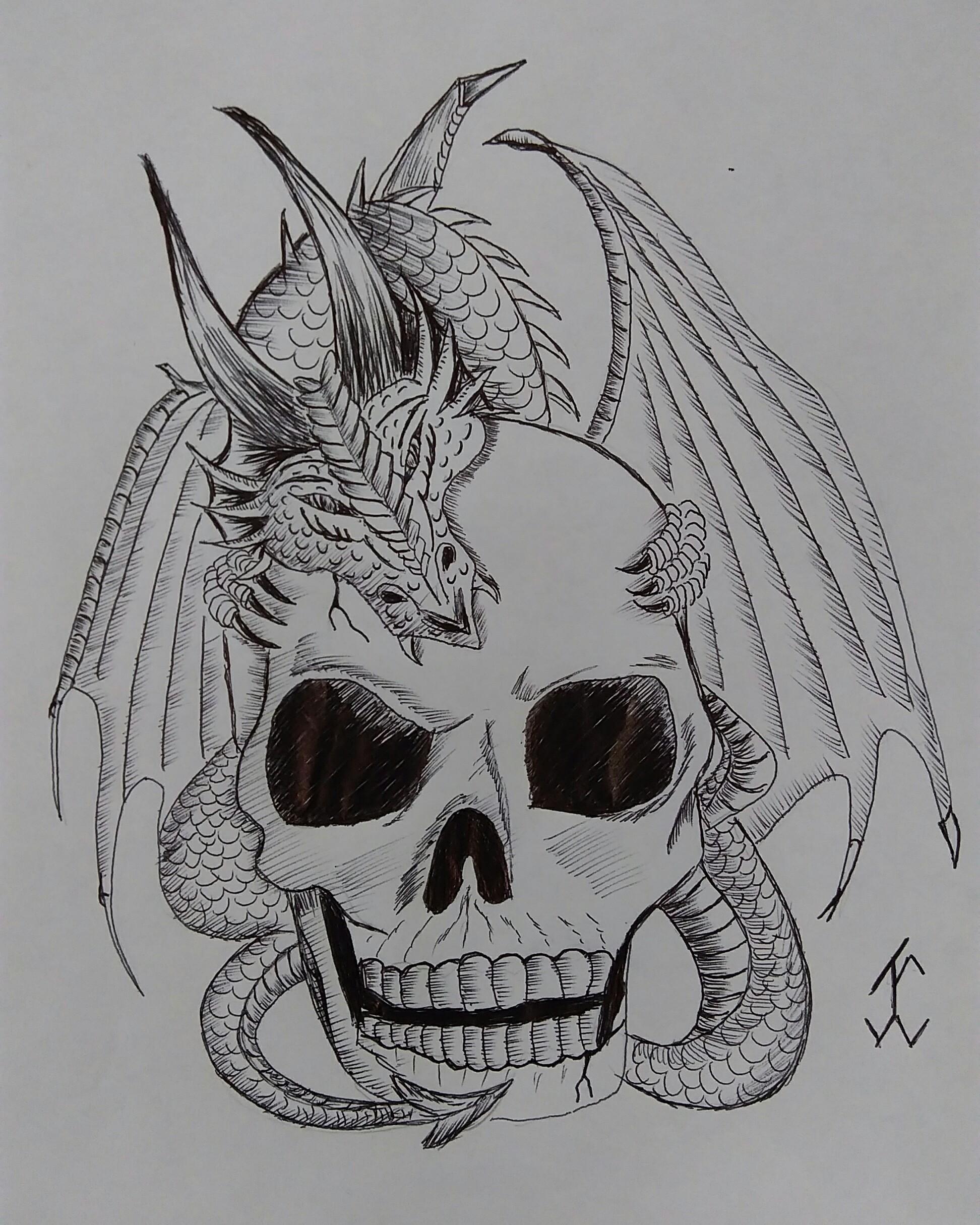 Drawn skull gothic skull #drawing  #skull #drawing Skull