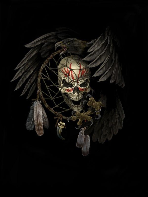 Drawn skull gothic skull Artist work Rangiora Tattoo Professional