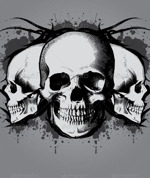 Drawn skull gothic skull Skull  Gothic Drawings