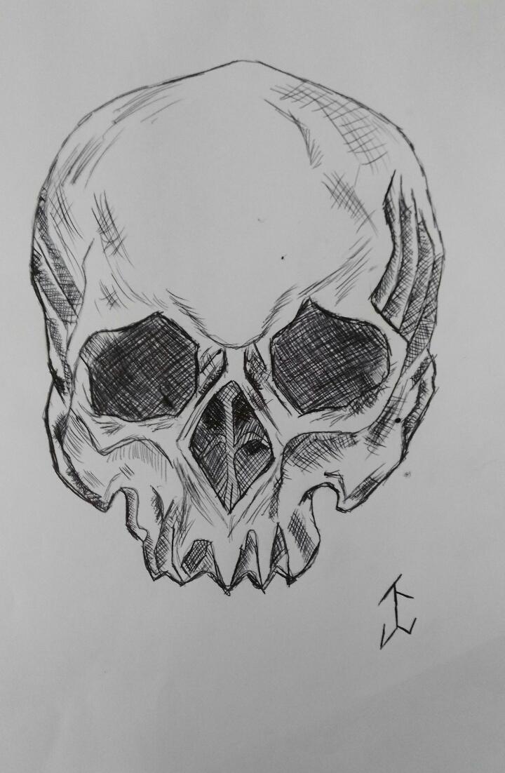 Drawn skull gothic skull #drawing #cat #skull #drawing #gothic